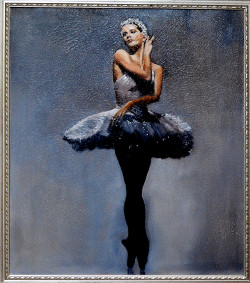Ballerina Oil Painting Signature Piece of Robert W. Moore Fine Artist